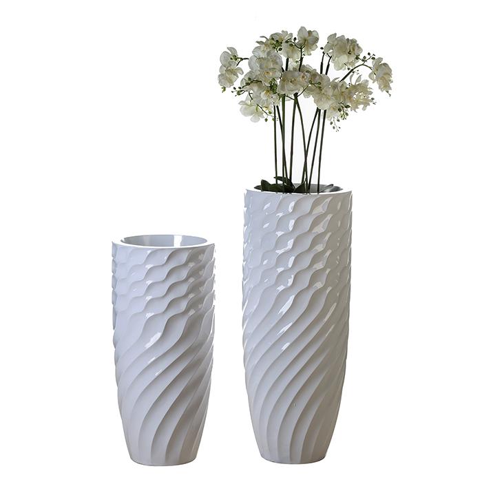 Podlahový květináč Lines, 80 cm
