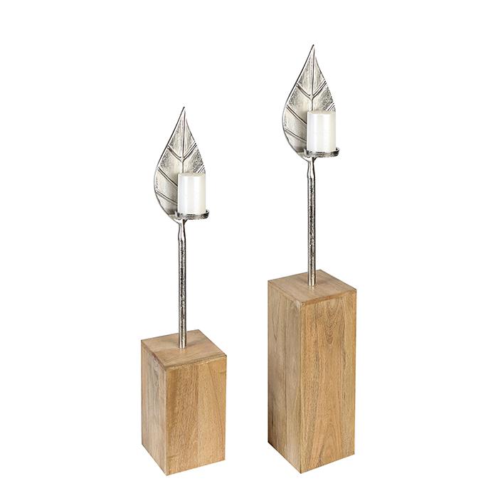 Podlahový svícen Bladet, 90 cm, hliník