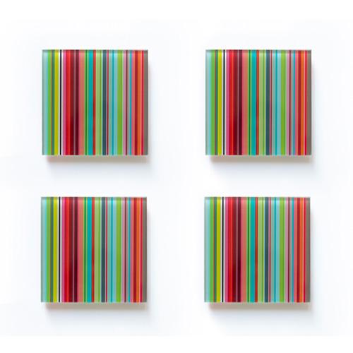 Podtácky Stripes, 10 cm (SET 4 ks)