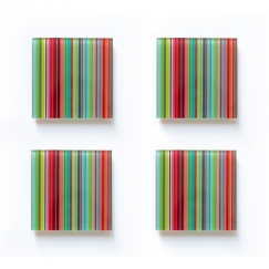 Podtácky Stripes, 10 cm (SET 4 ks)