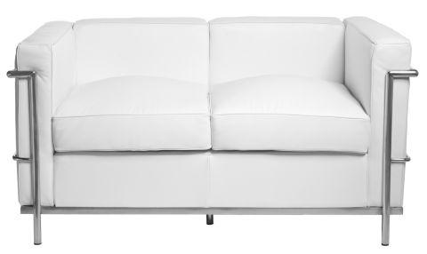 Pohovka 2-sedák Corella, 130 cm, bílá