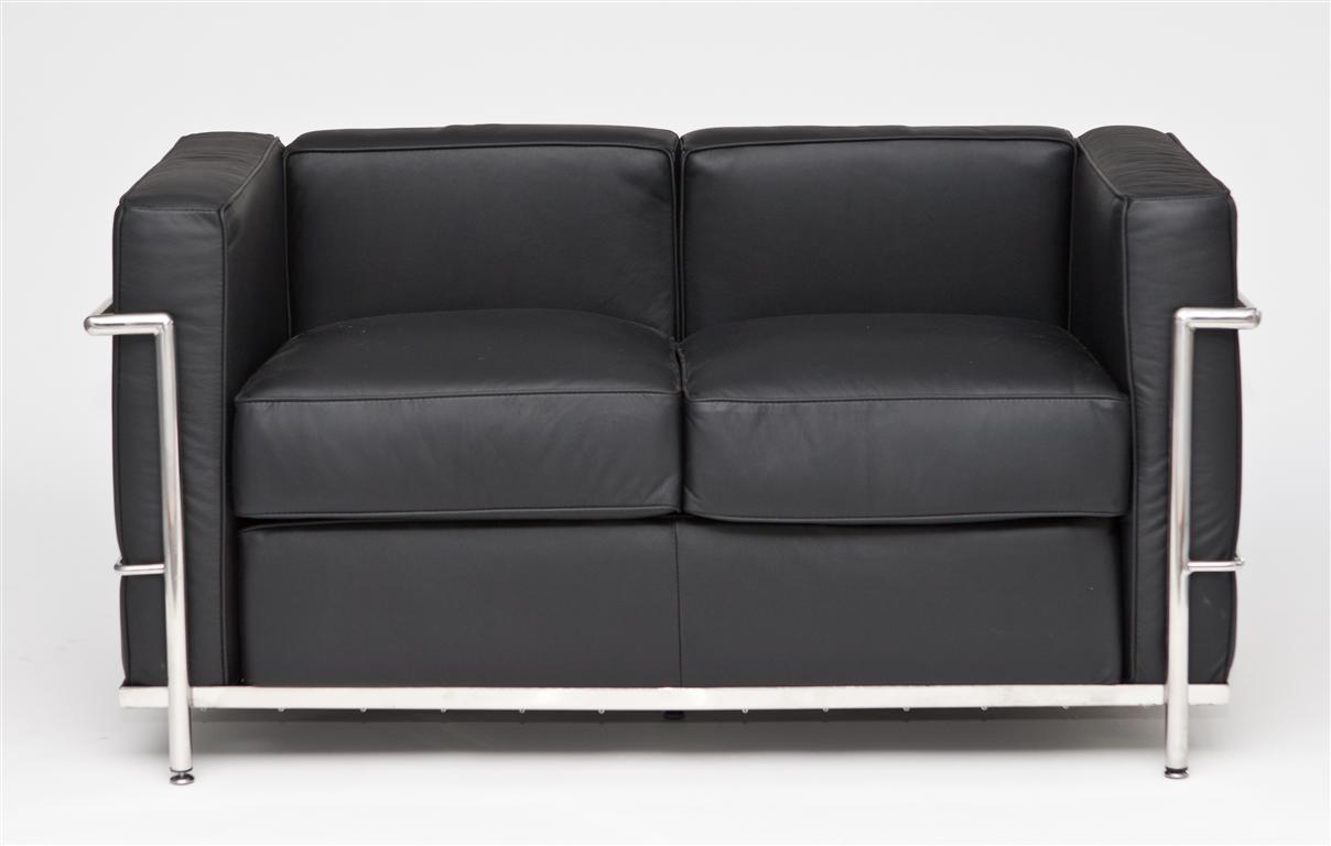 Pohovka 2-sedák Corella, 130 cm, černá