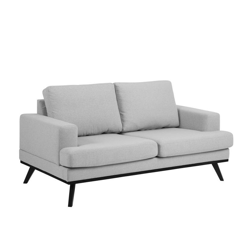 Pohovka 2-sedák Scandia, 165 cm, šedá/černá