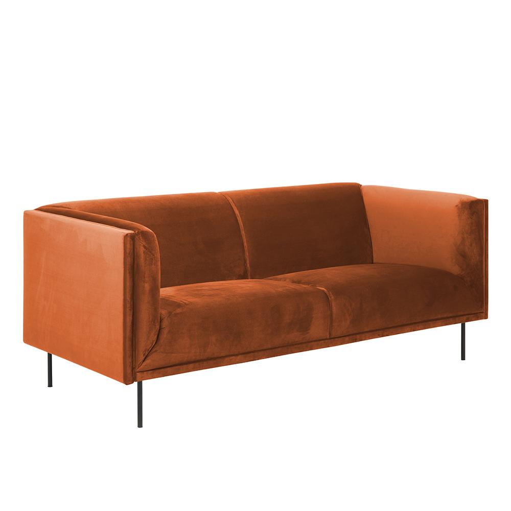 Pohovka 3-sedák Carson, 200 cm, oranžová