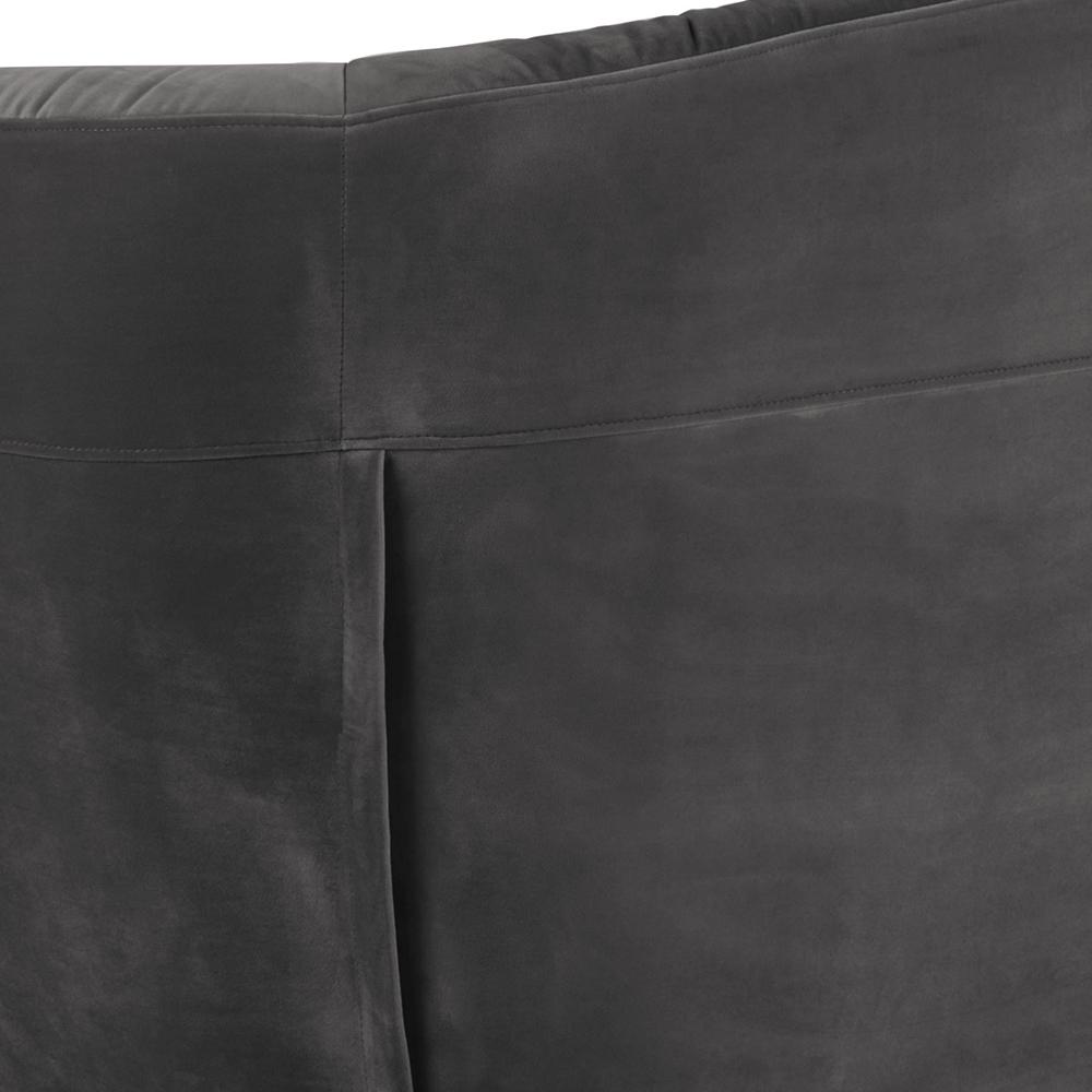 Pohovka 3-sedák Megan, 191 cm, tmavě šedá