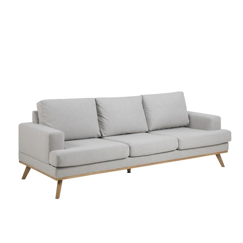 Pohovka 3-sedák Scandia, 231 cm, šedá/dub