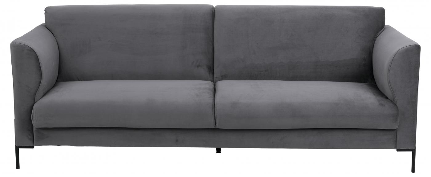 Pohovka Conley, 211 cm, tmavě šedá