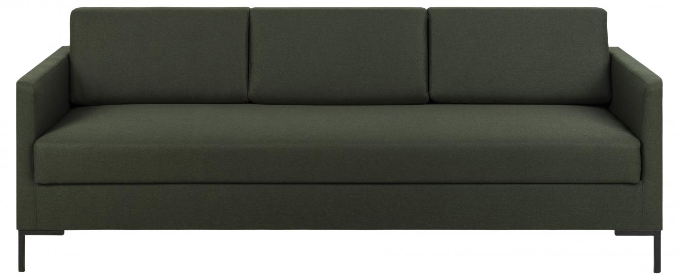 Pohovka Leknes, 214 cm, tmavě zelená