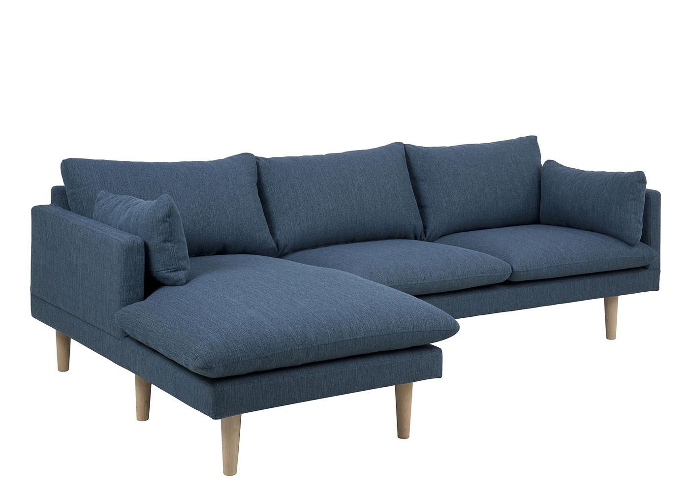 Pohovka rohová levá Surry, 242 cm, modrá