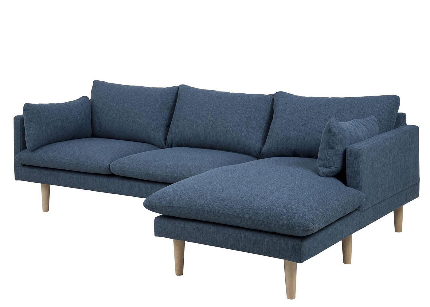 Pohovka rohová pravá Surry, 242 cm, modrá