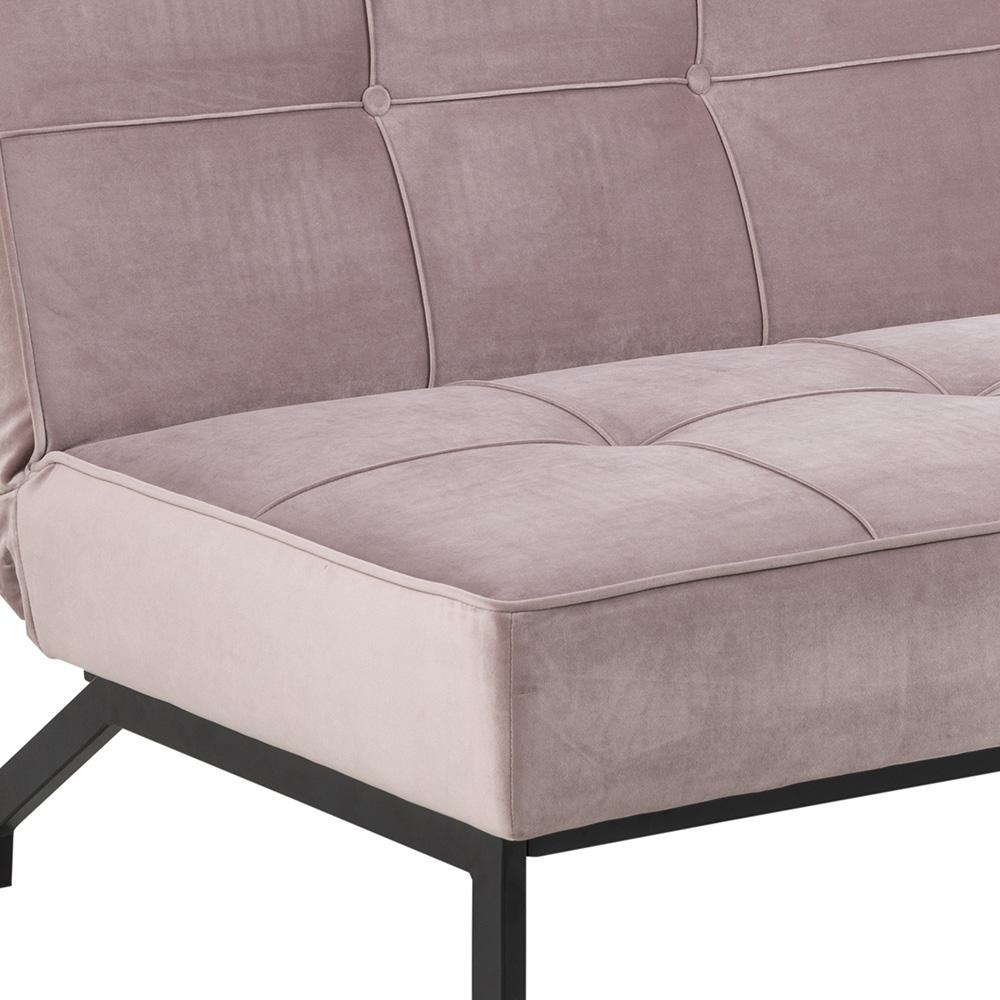 Pohovka se sklopným opěradlem Peggy, 198 cm, růžová