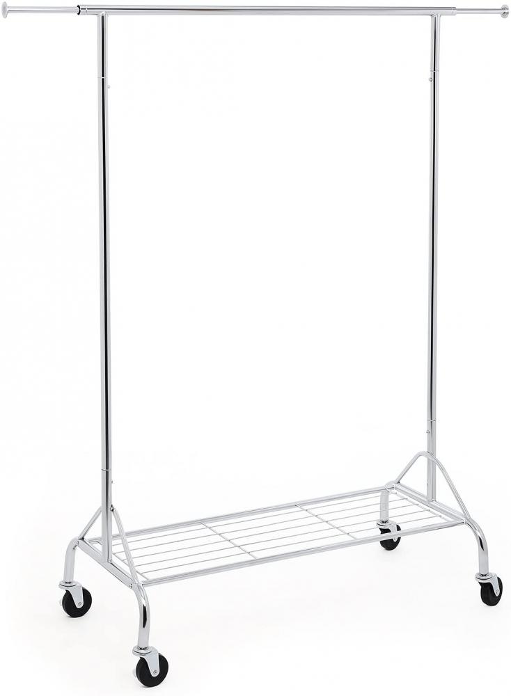 Pojízdný stojan Garet, 171 cm, stříbrná