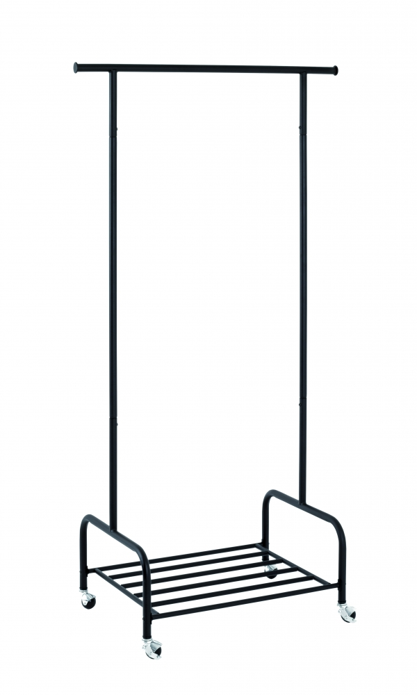 Pojízdný stojan Selly, 175 cm, černá