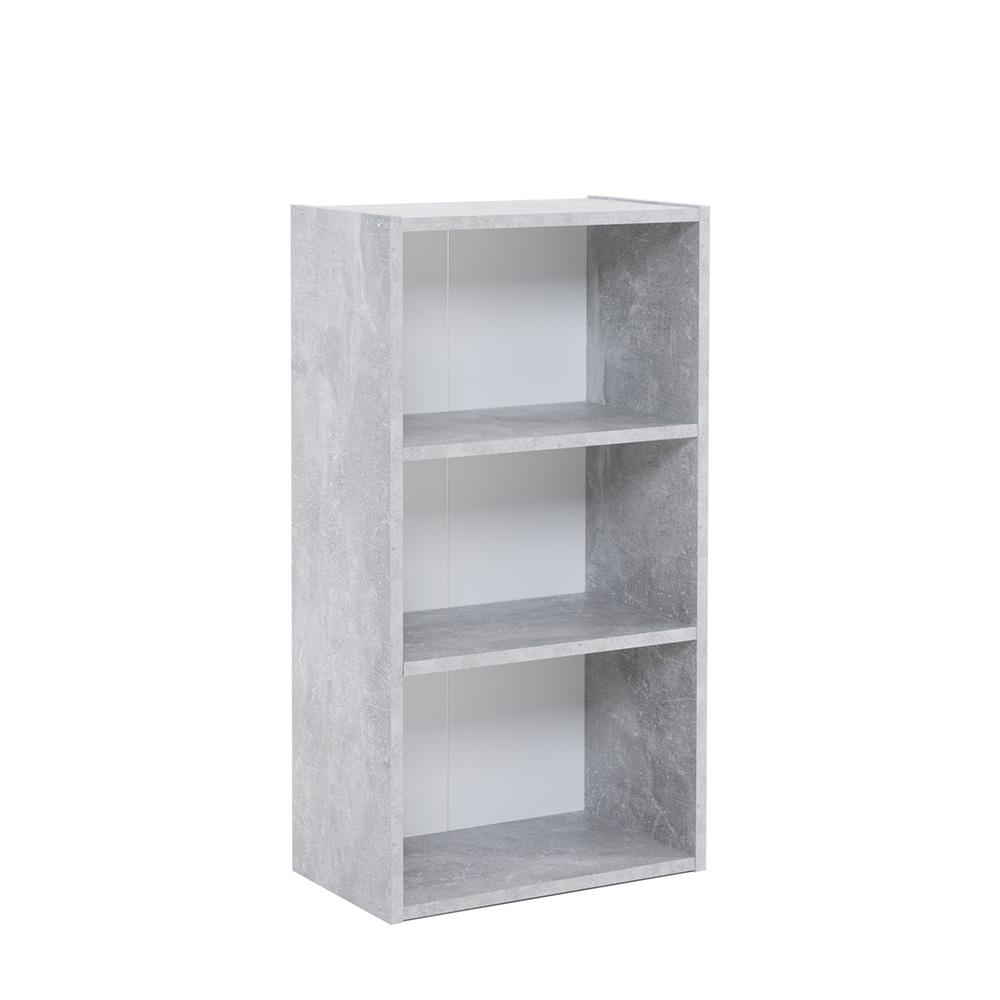 Policový regál / knihovna Dakota, 78,5 cm, beton