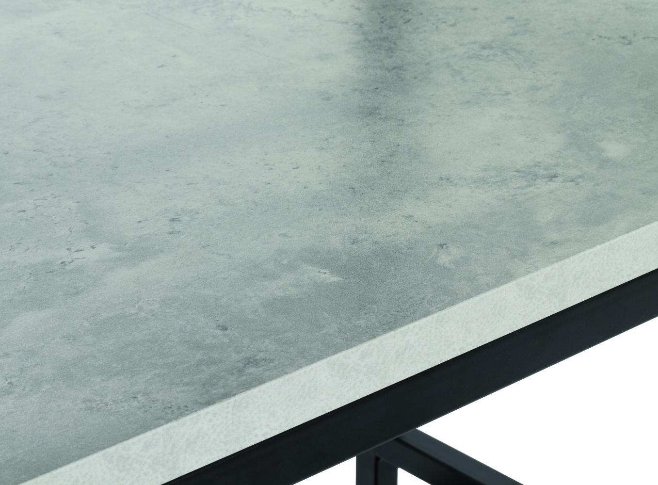 Policový regál Vickey, 140 cm, beton/černá