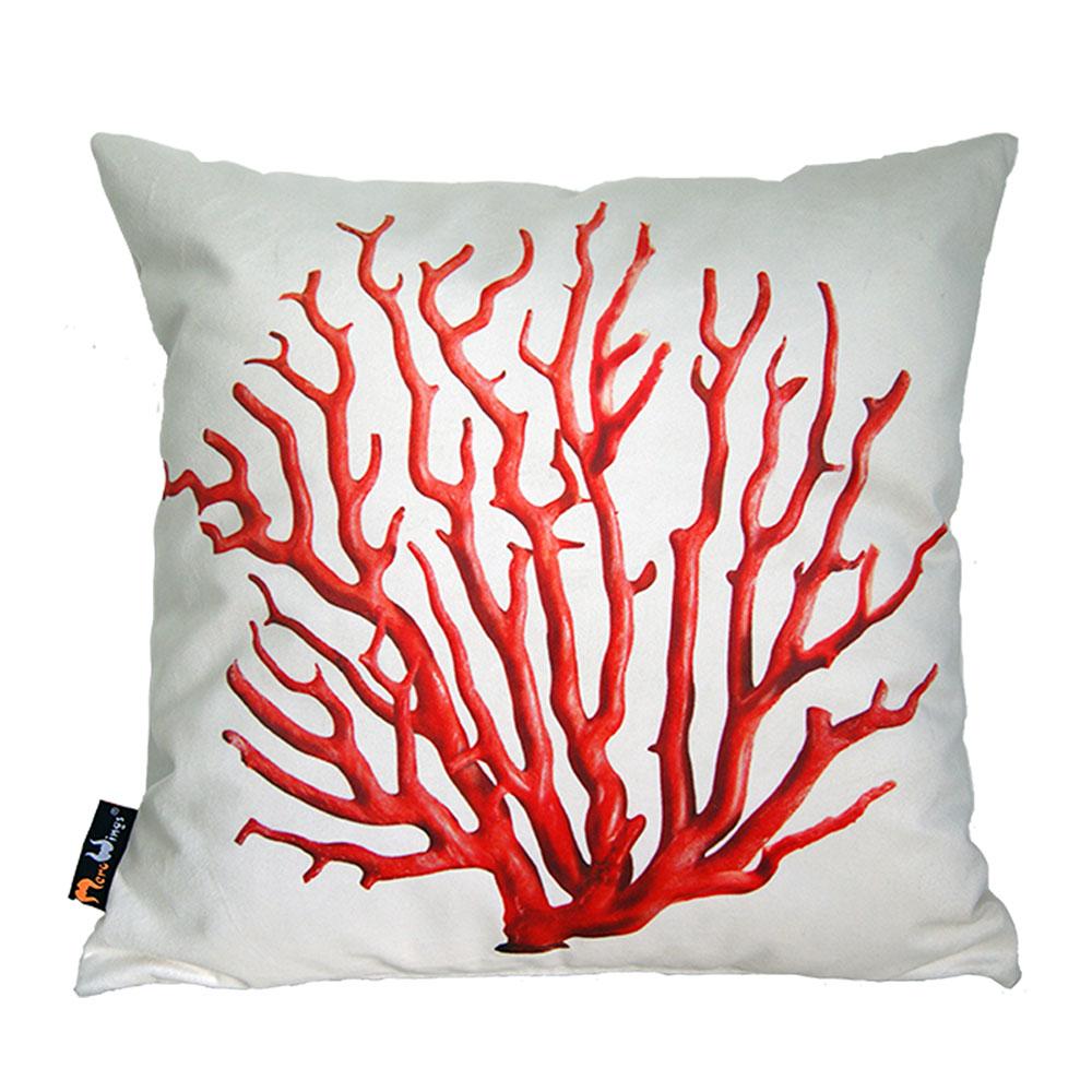 Polštář Red Coral, 45 cm, krémová
