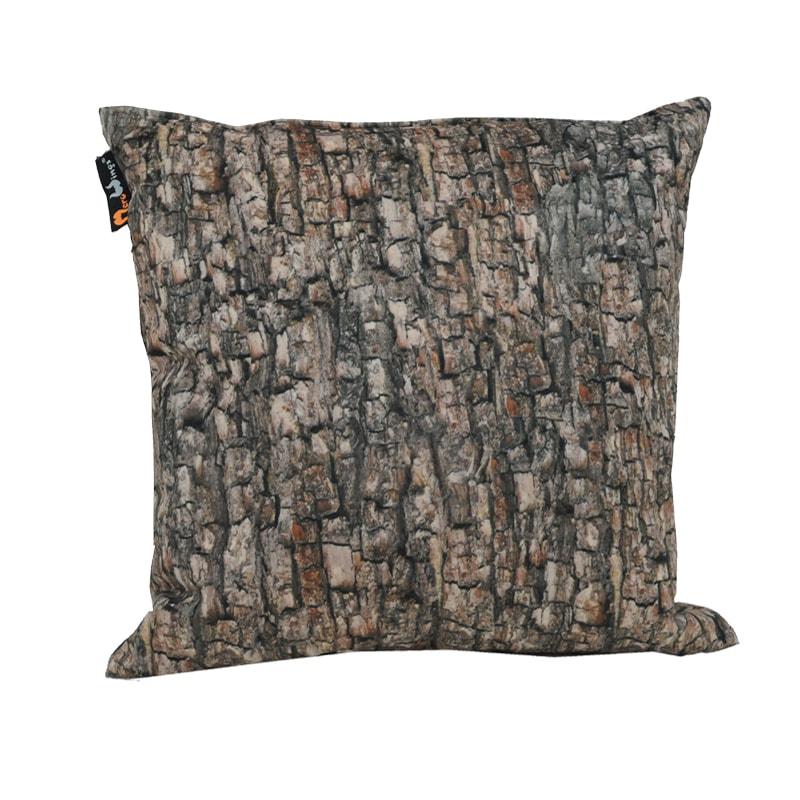 Polštář s potiskem kůry Forest, 60x60 cm