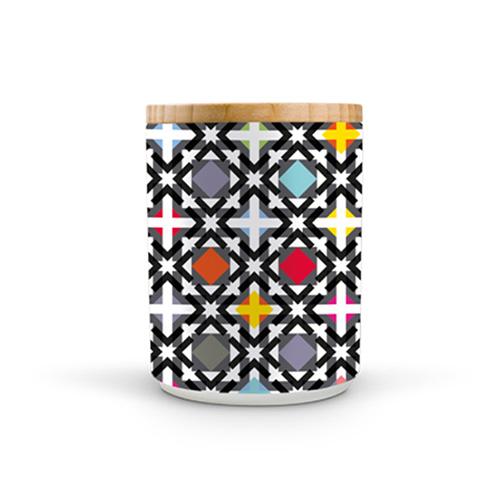 Porcelánová dóza s bambusovým víkem Holy, 1,25 l