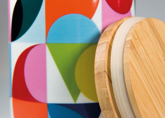 Porcelánová dóza s bambusovým víkem Solena, 1,25 l