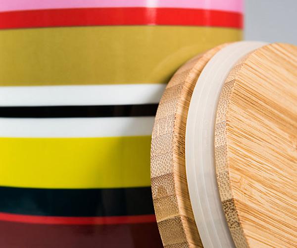 Porcelánová dóza s bambusovým víkem Verano, 1,25 l