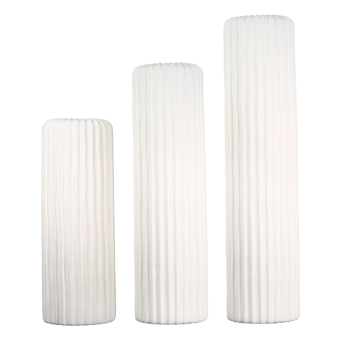Porcelánová váza Elias, 58 cm, bílá