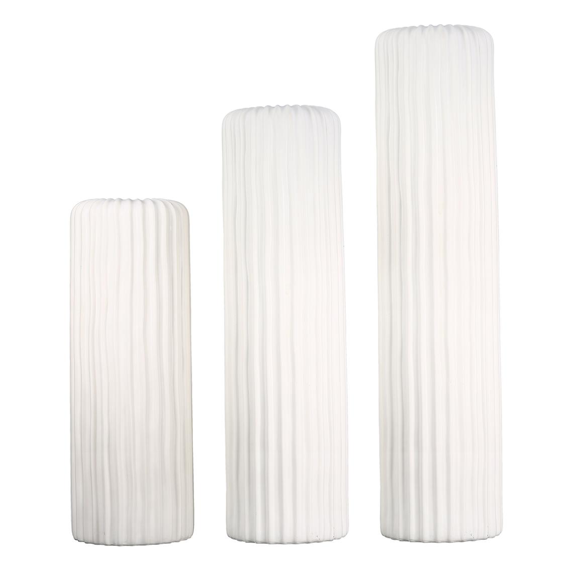 Porcelánová váza Elias, 76 cm, bílá