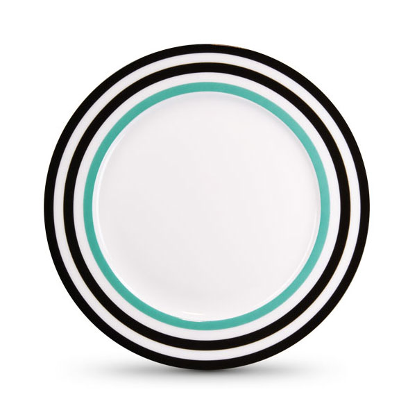 Porcelánový talíř Black Lines, 21 cm