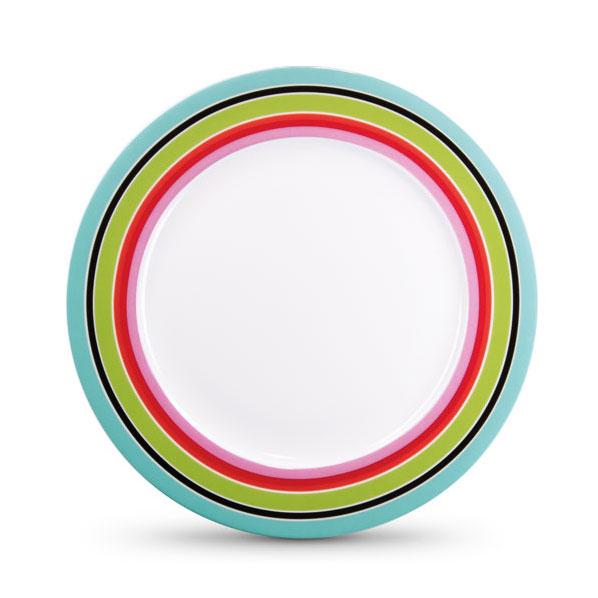 Porcelánový talíř Stripy, 21 cm