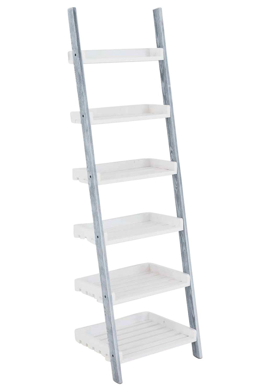 Poschoďový regál Farve, 155 cm, šedá/bílá