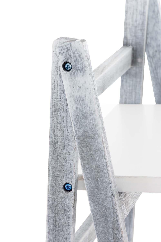 Poschoďový regál Fredrik, 113 cm, bílá/šedá