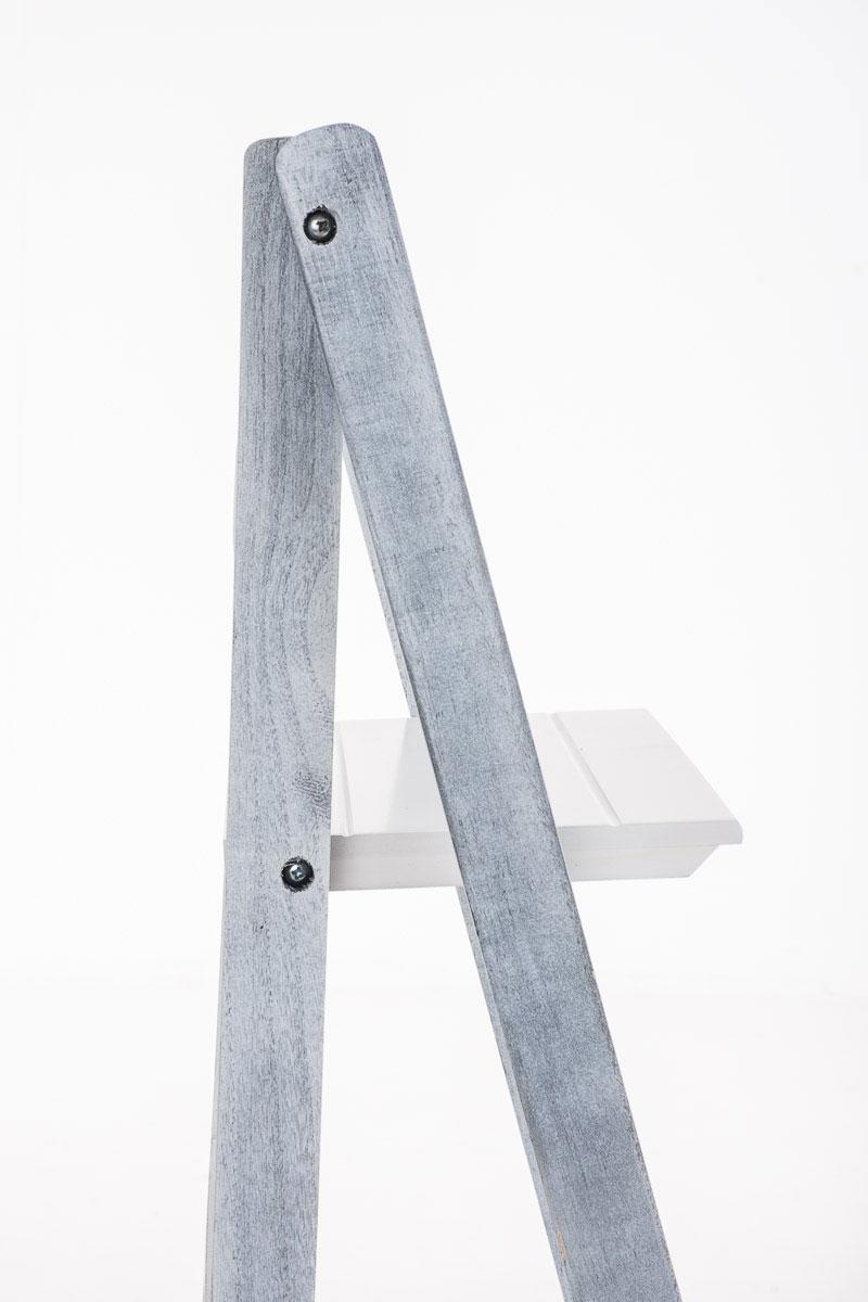 Poschoďový regál Klippe, 111 cm, bílá/šedá