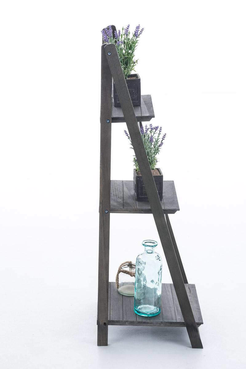 Poschoďový regál Klippe, 111 cm, tmavě hnědá