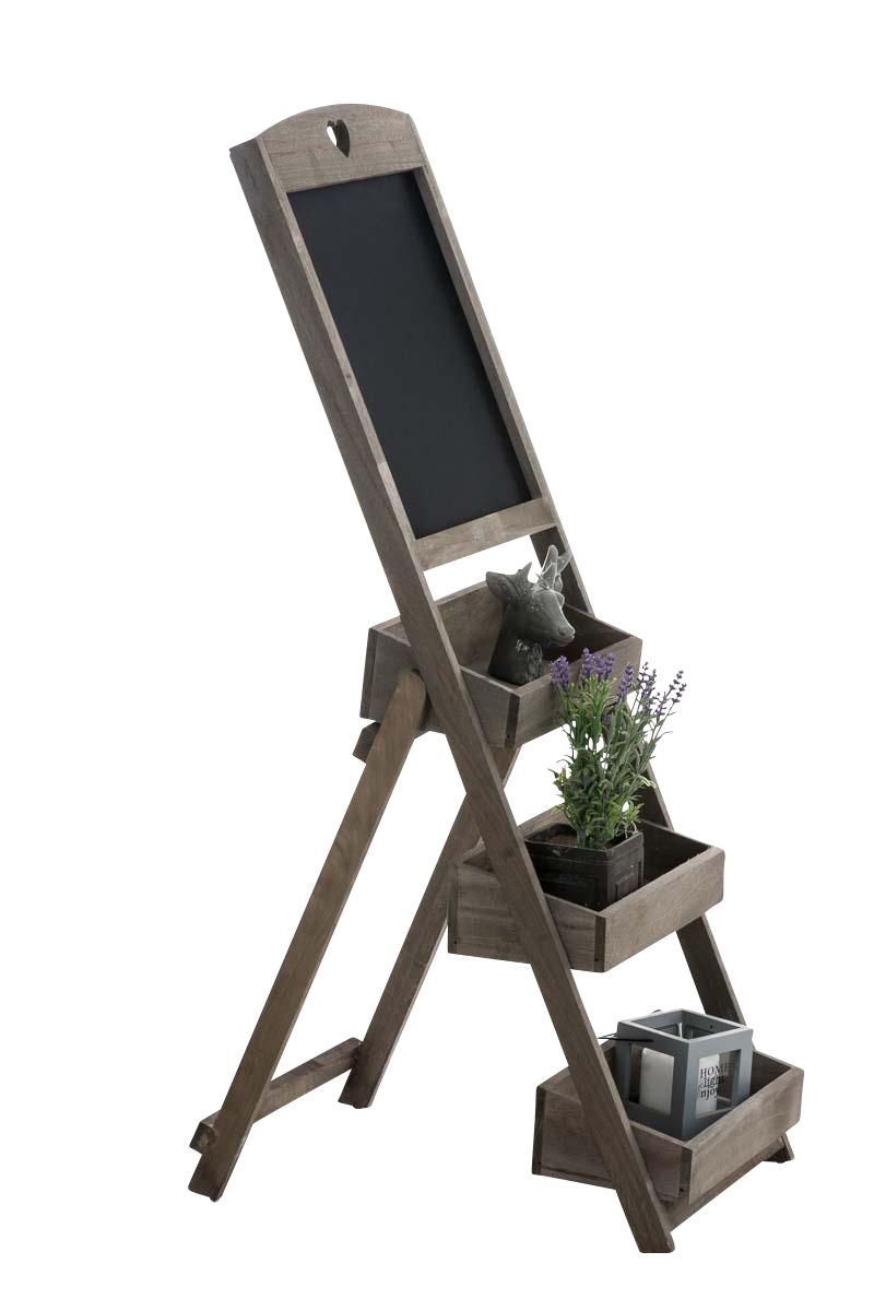 Poschoďový regál s tabulí Ombord, 111 cm, tmavě hnědá