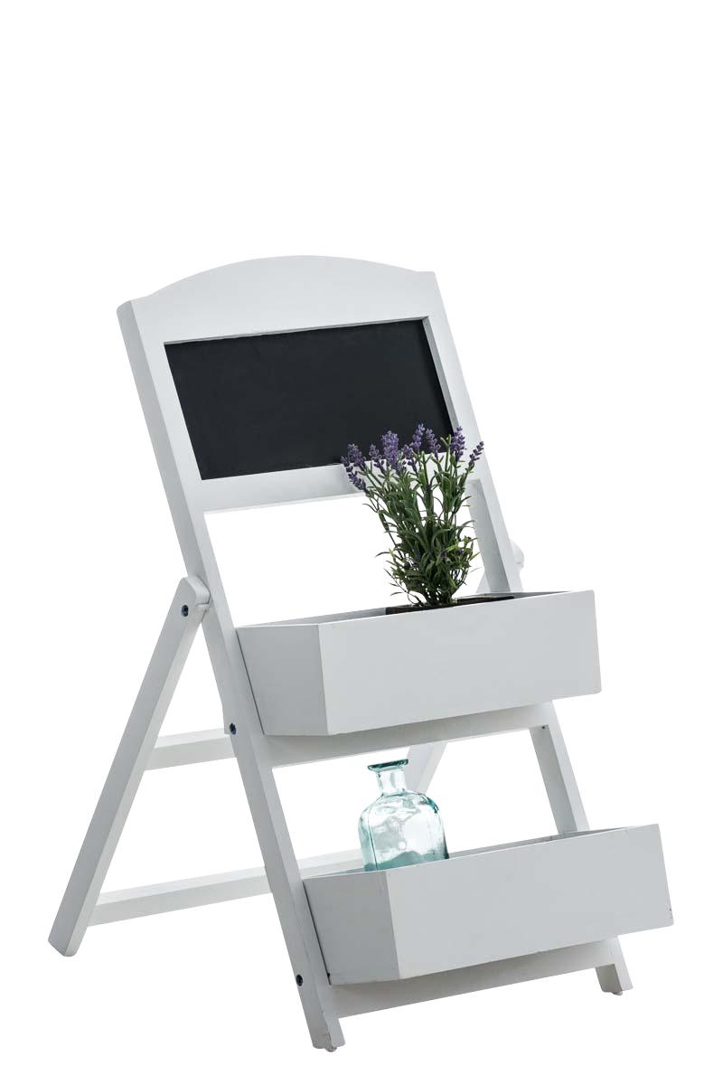 Poschoďový regál s tabulí Robin, 77,5 cm, bílá