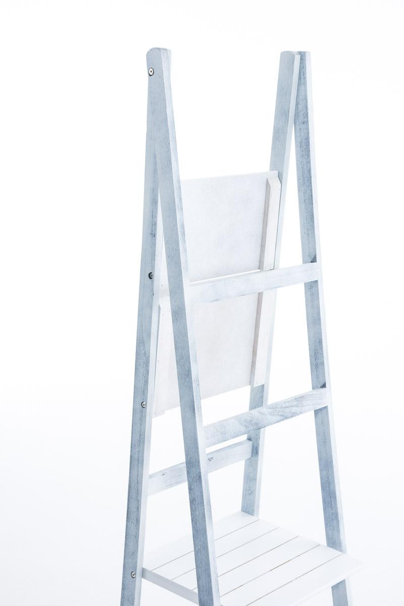 Poschoďový regál Talma, 153 cm, bílá/šedá