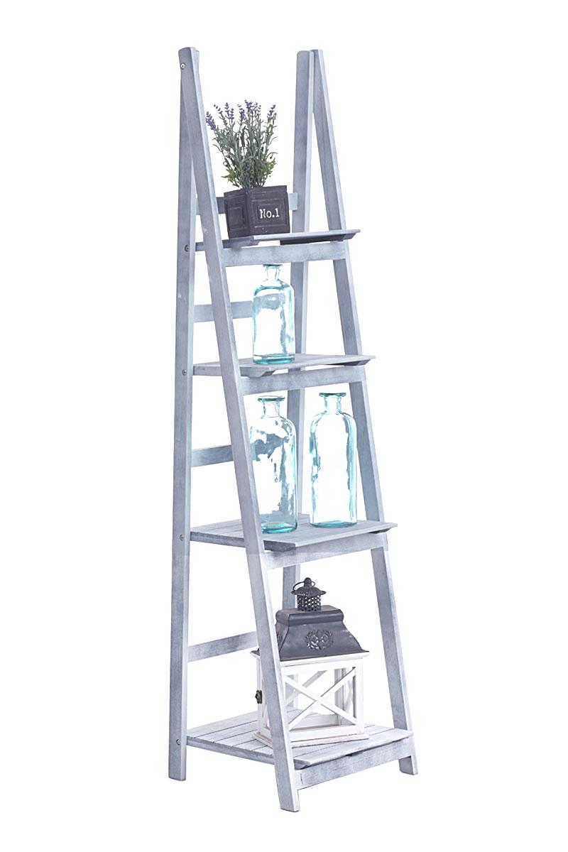 Poschoďový regál Talma, 153 cm, šedá