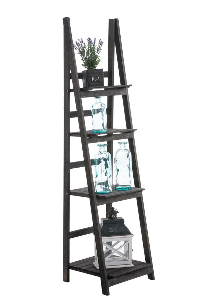 Poschoďový regál Talma, 153 cm, tmavě hnědá