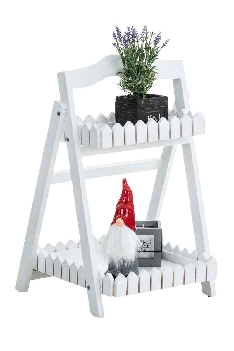 Poschoďový regál Treppe, 62 cm, bílá