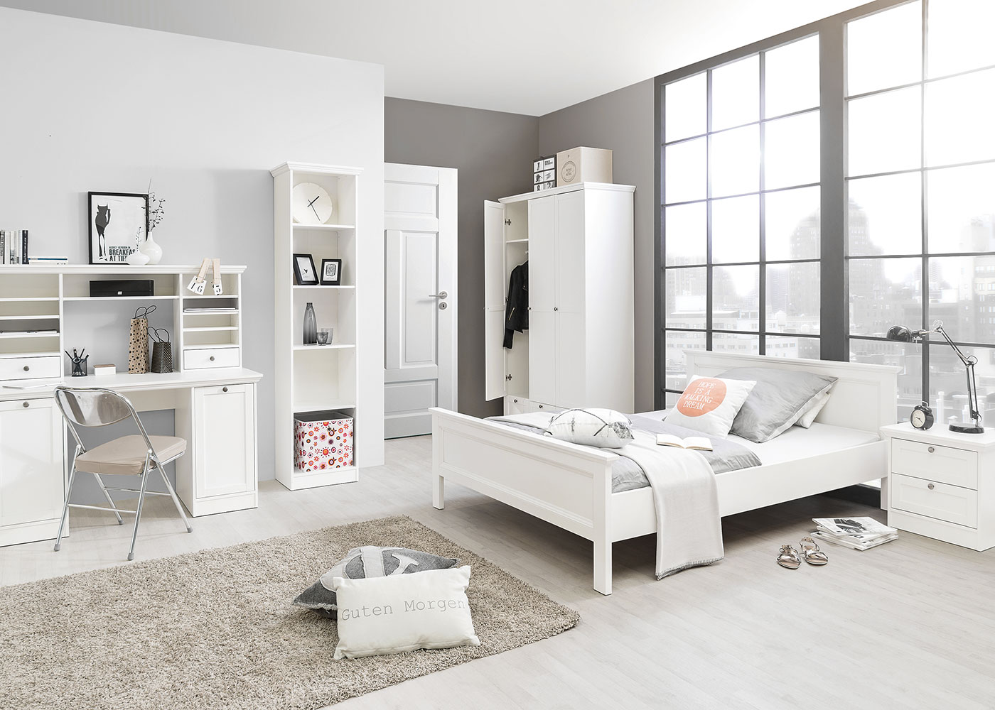 poste country 180 x 200 cm design discount. Black Bedroom Furniture Sets. Home Design Ideas