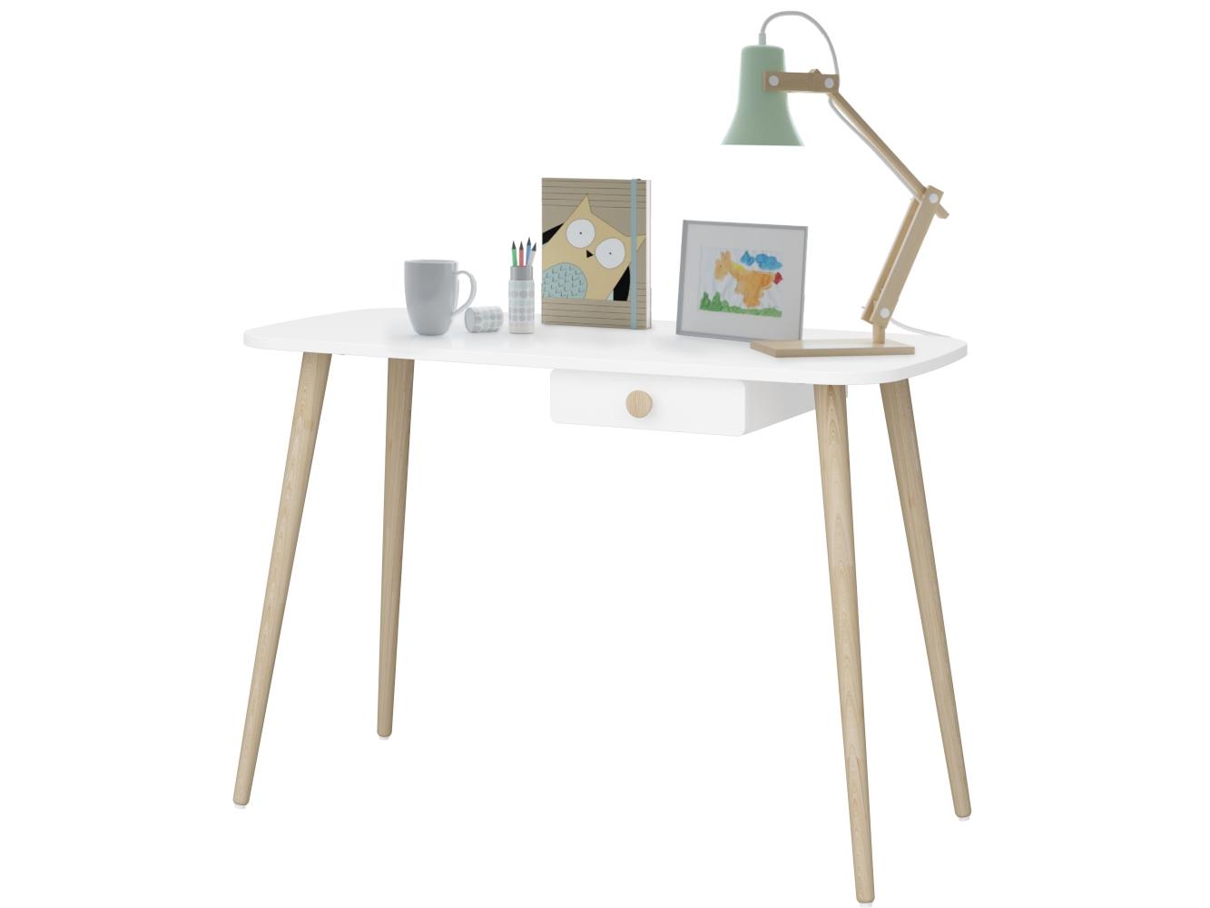 Pracovní stůl Adel, 110 cm, bílá