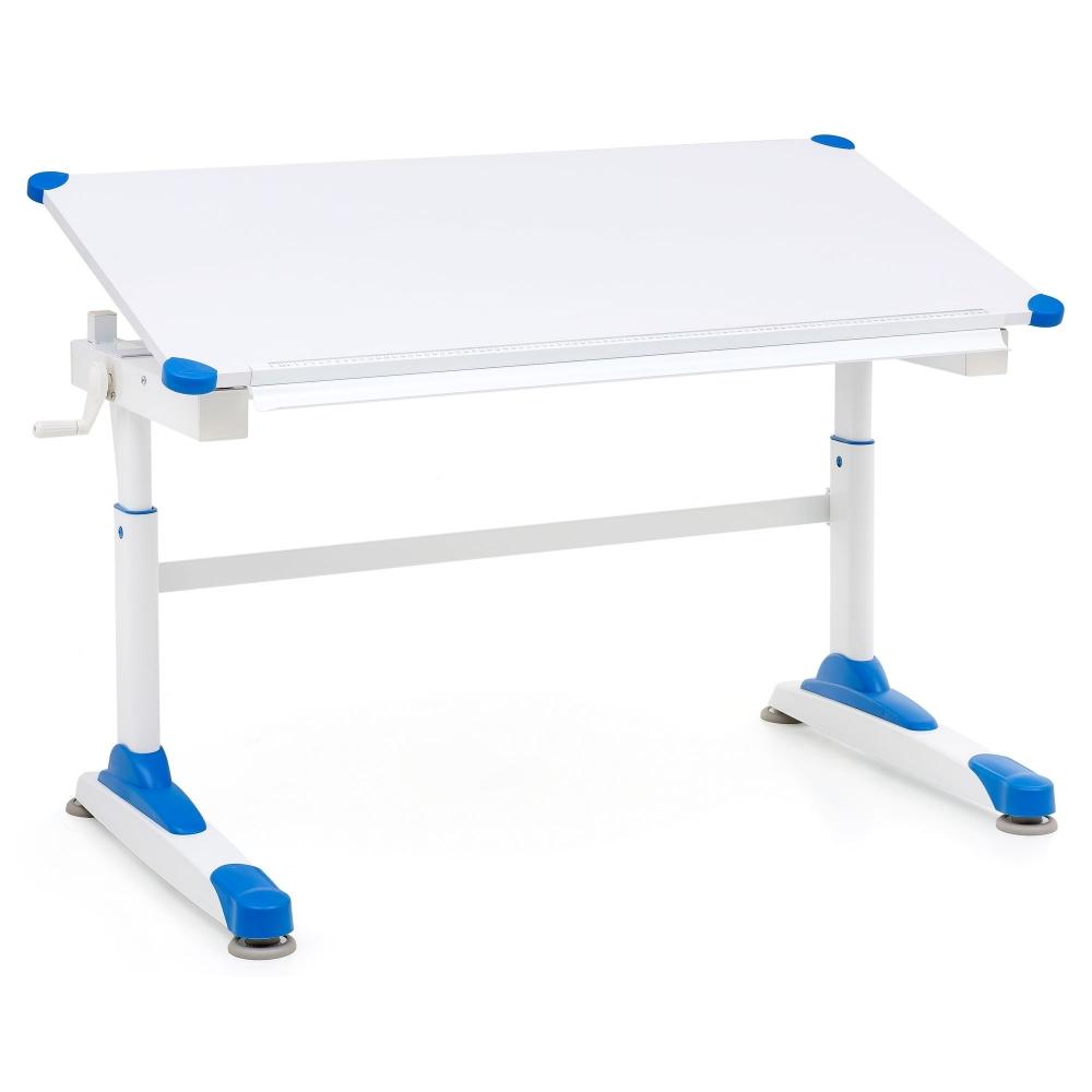 Pracovní stůl Alia, 119 cm, bílá / modrá
