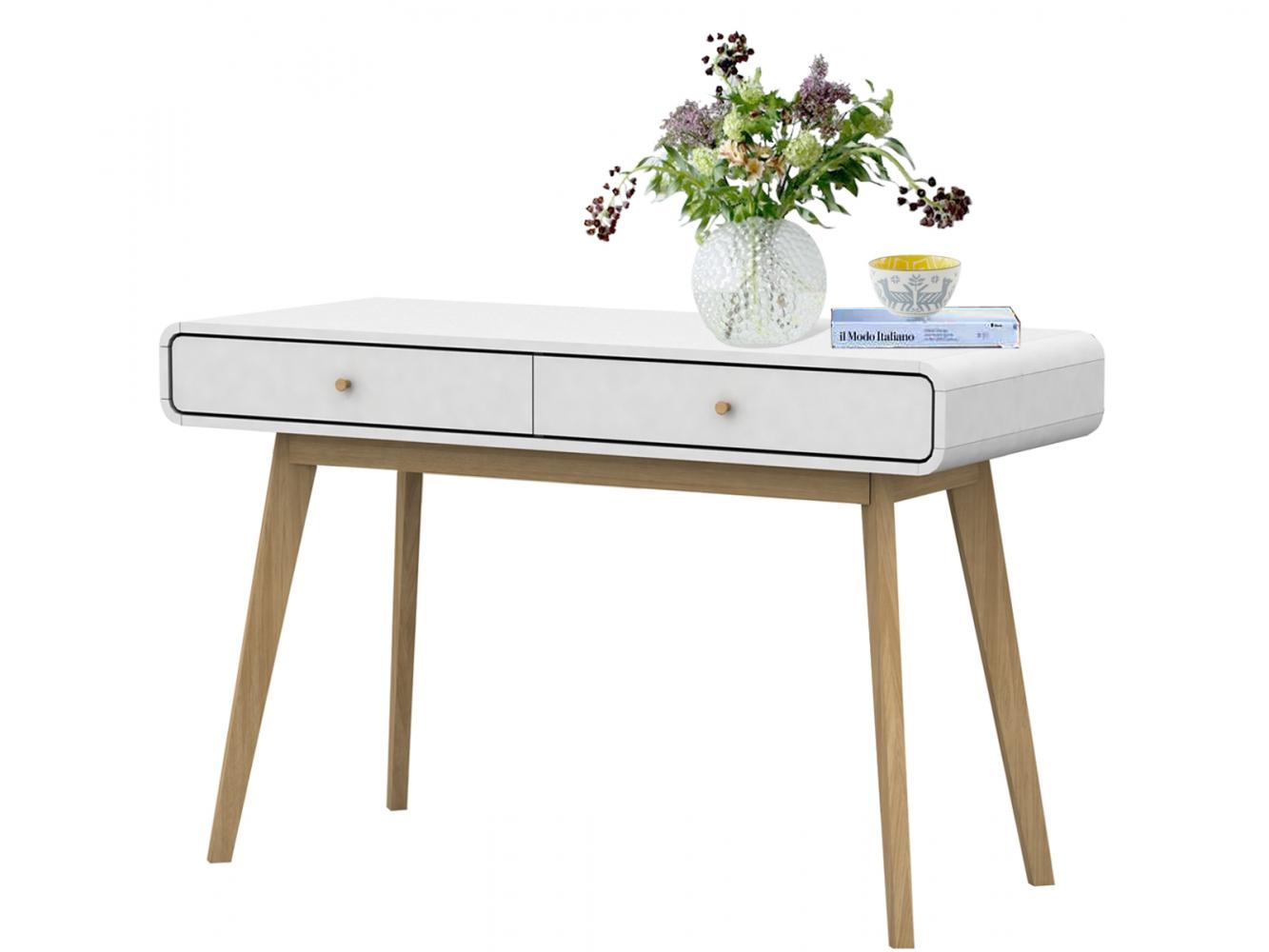 Pracovní stůl Calin, 120 cm, bílá