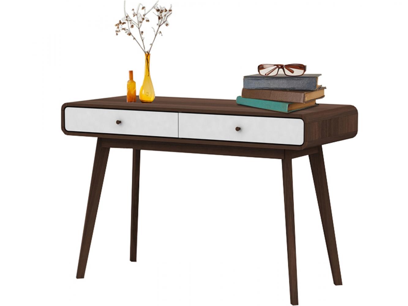 Pracovní stůl Calin, 120 cm, ořechová