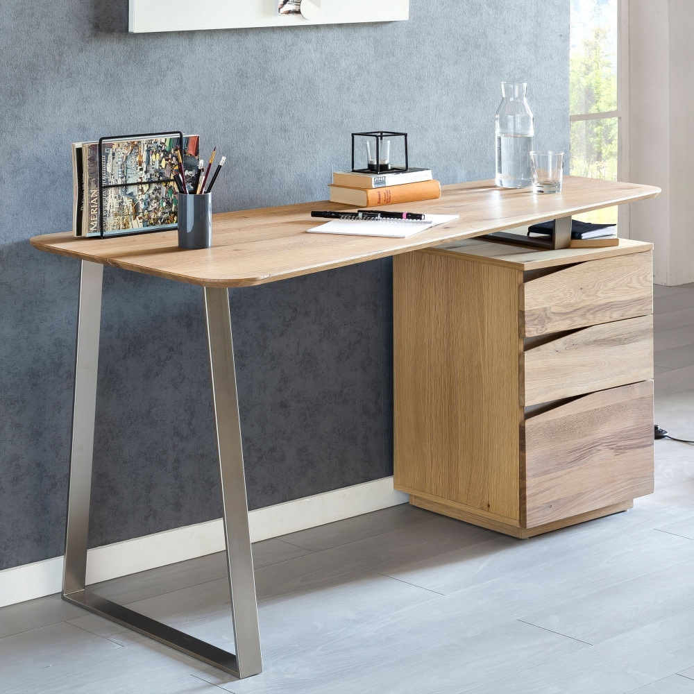 Pracovní stůl Joy, 150 cm, masivní dub