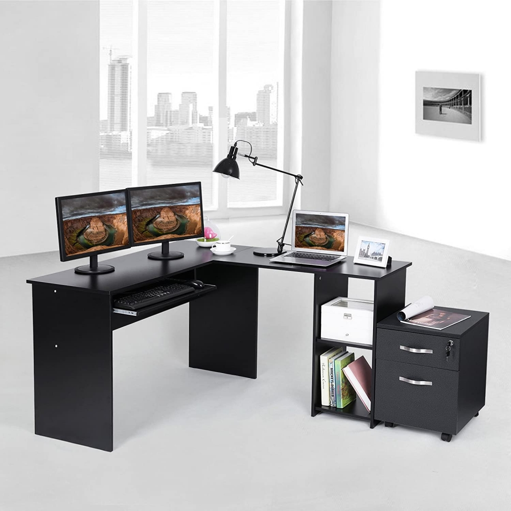 Pracovní stůl Leon, 140 cm, černá