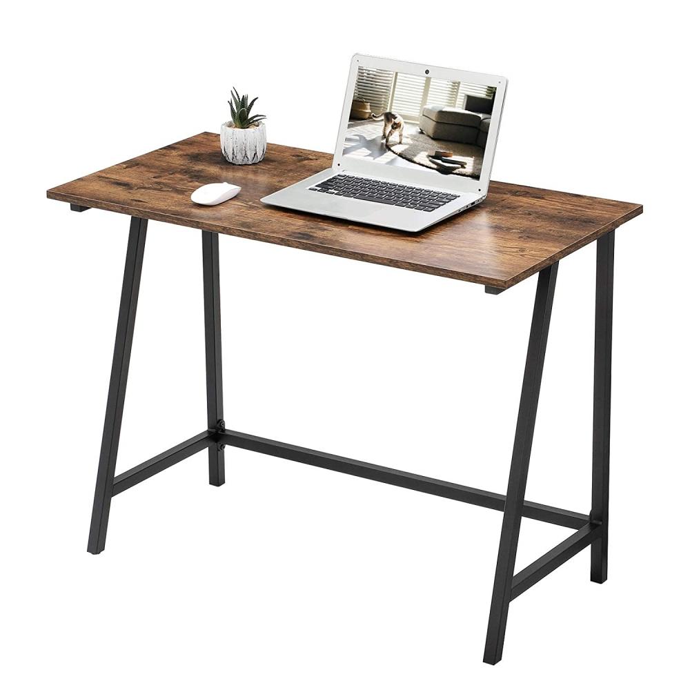Pracovní stůl Lera, 100 cm, hnědá / černá