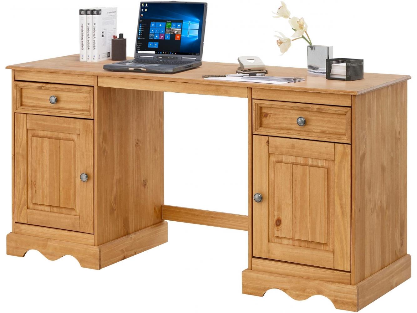 Pracovní stůl Meliss, 160 cm, borovice