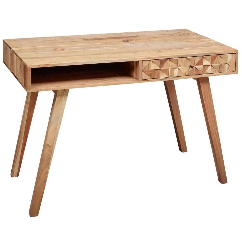 Pracovní stůl Muza, 115 cm, masiv akát