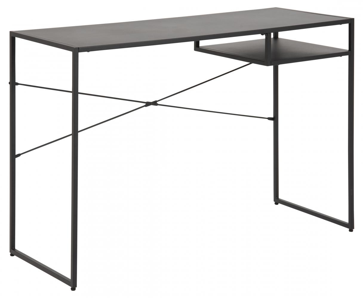 Pracovní stůl Newcastle, 110 cm, kov, černá
