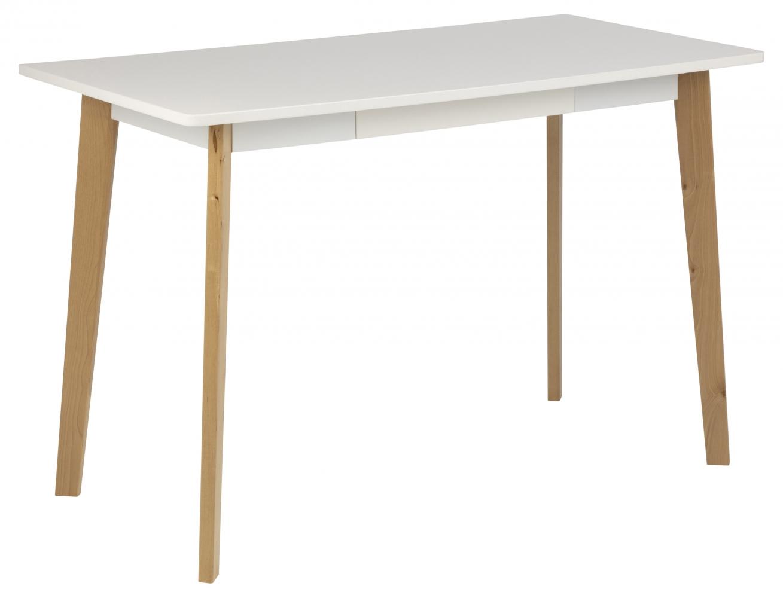 Pracovní stůl Raven, 117 cm, MDF, bílá